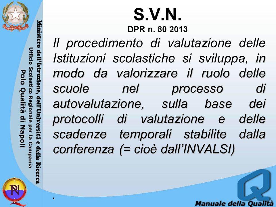 S.V.N. DPR n. 80 2013