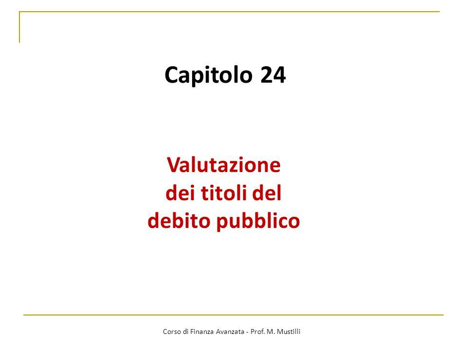 Valutazione dei titoli del debito pubblico