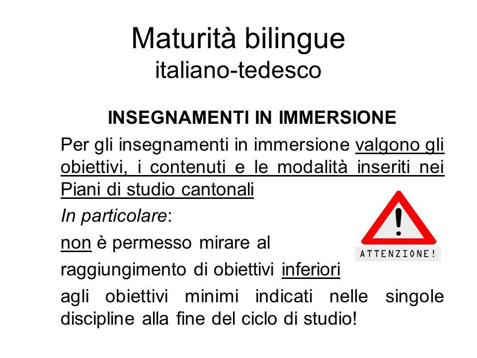 Maturità bilingue italiano-tedesco