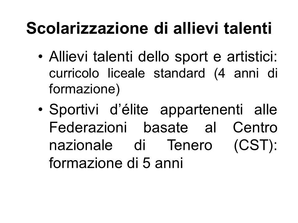 Scolarizzazione di allievi talenti