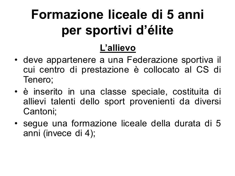 Formazione liceale di 5 anni per sportivi d'élite