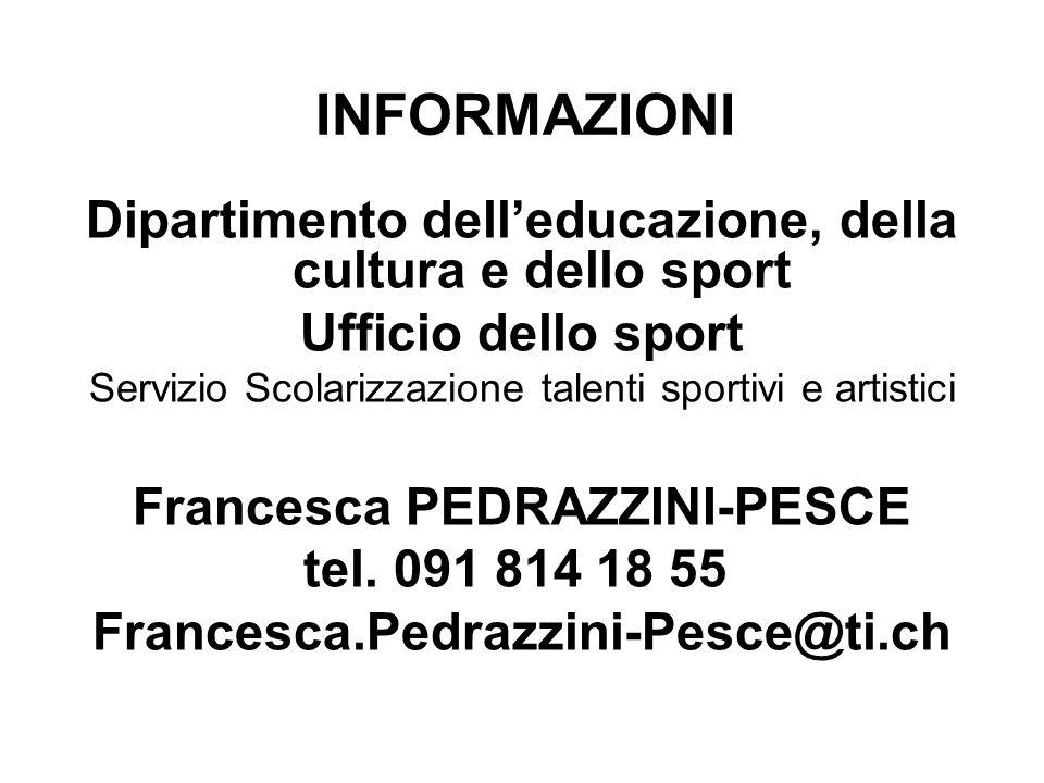 INFORMAZIONI Dipartimento dell'educazione, della cultura e dello sport