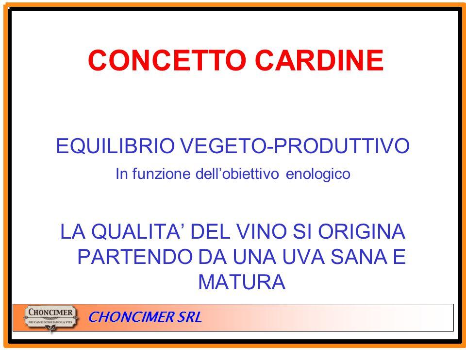 CONCETTO CARDINE EQUILIBRIO VEGETO-PRODUTTIVO