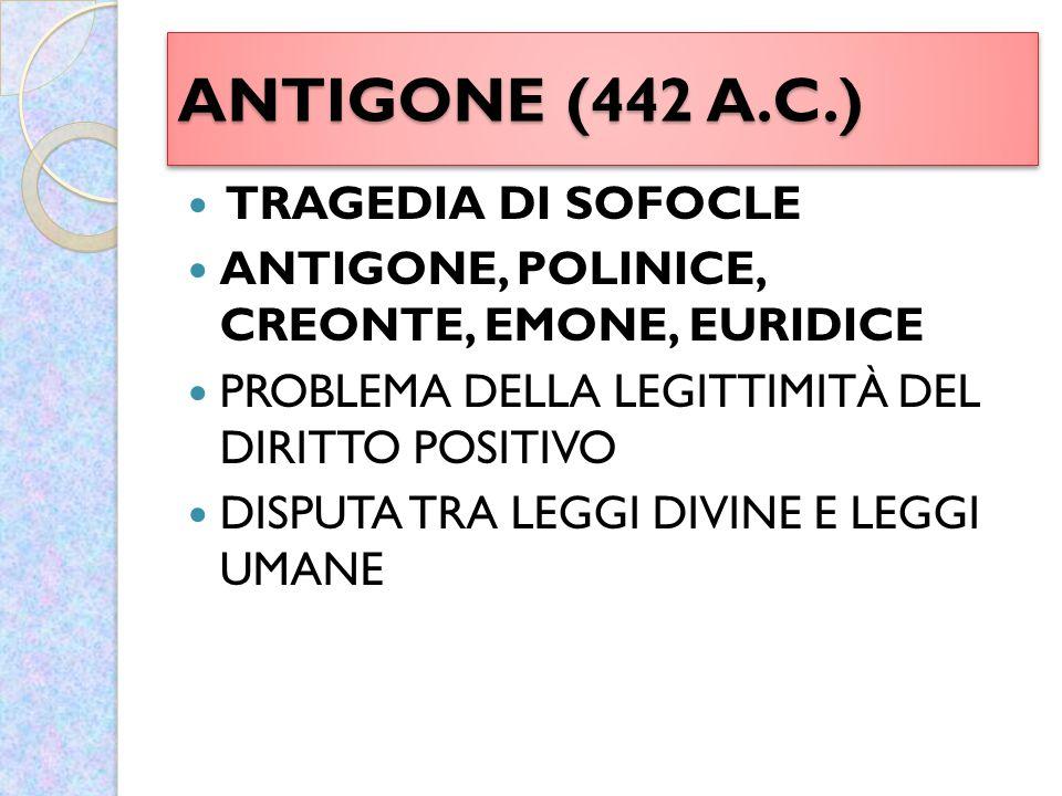 ANTIGONE (442 A.C.) TRAGEDIA DI SOFOCLE