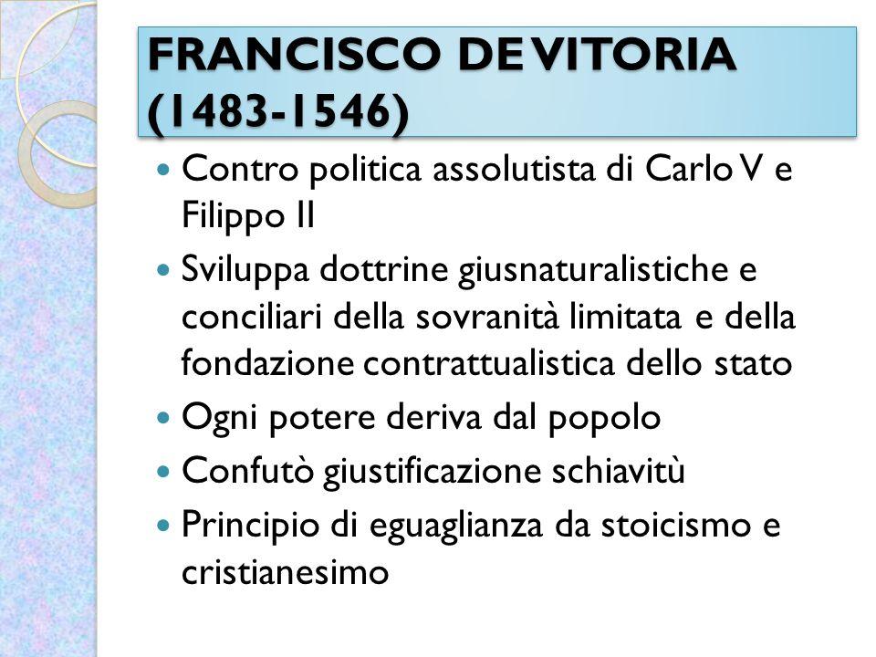 FRANCISCO DE VITORIA (1483-1546)