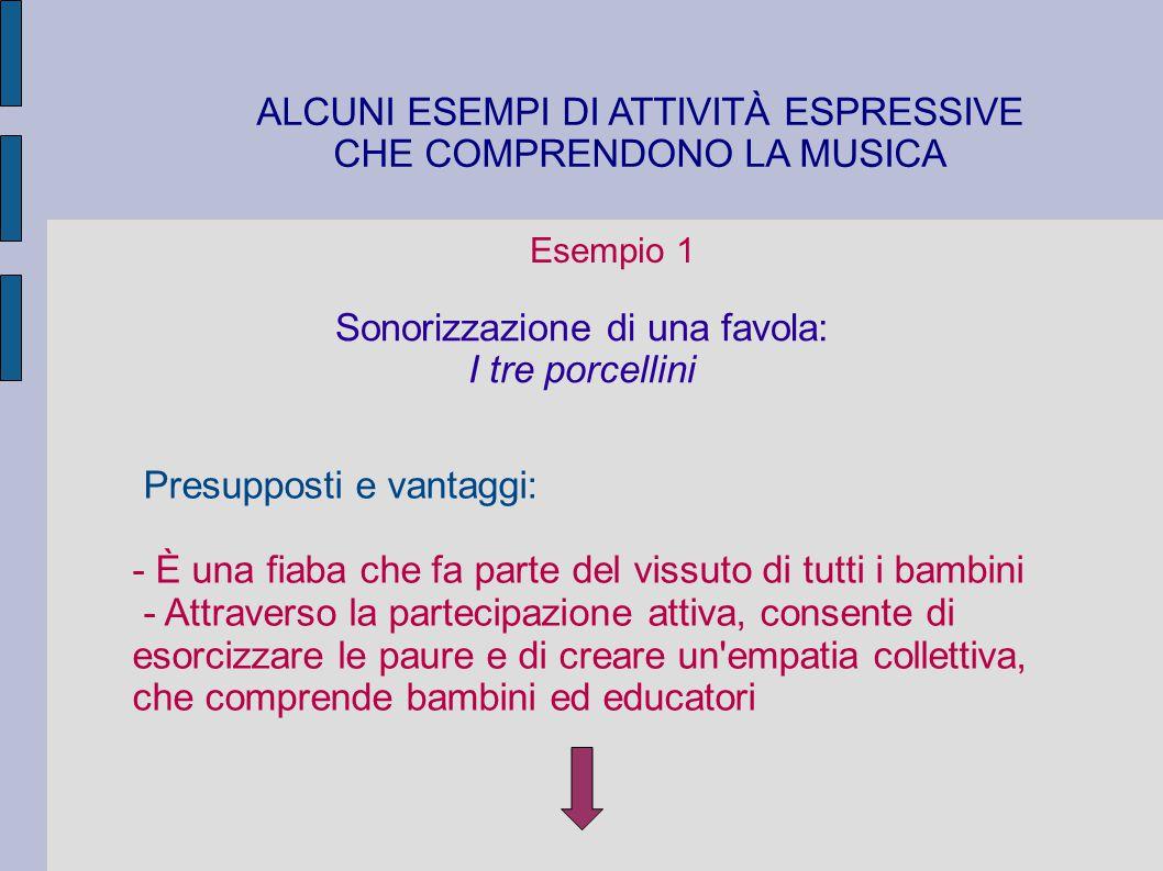 ALCUNI ESEMPI DI ATTIVITÀ ESPRESSIVE CHE COMPRENDONO LA MUSICA