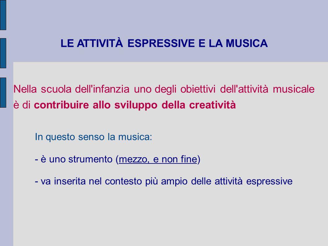 LE ATTIVITÀ ESPRESSIVE E LA MUSICA
