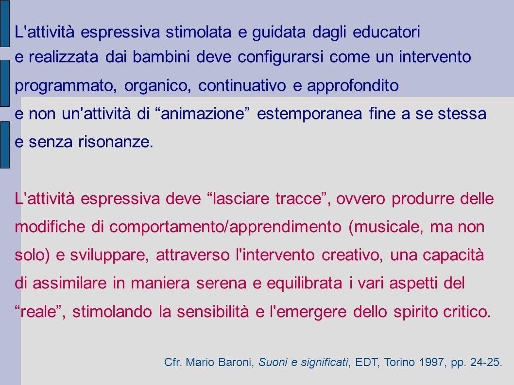 L attività espressiva stimolata e guidata dagli educatori