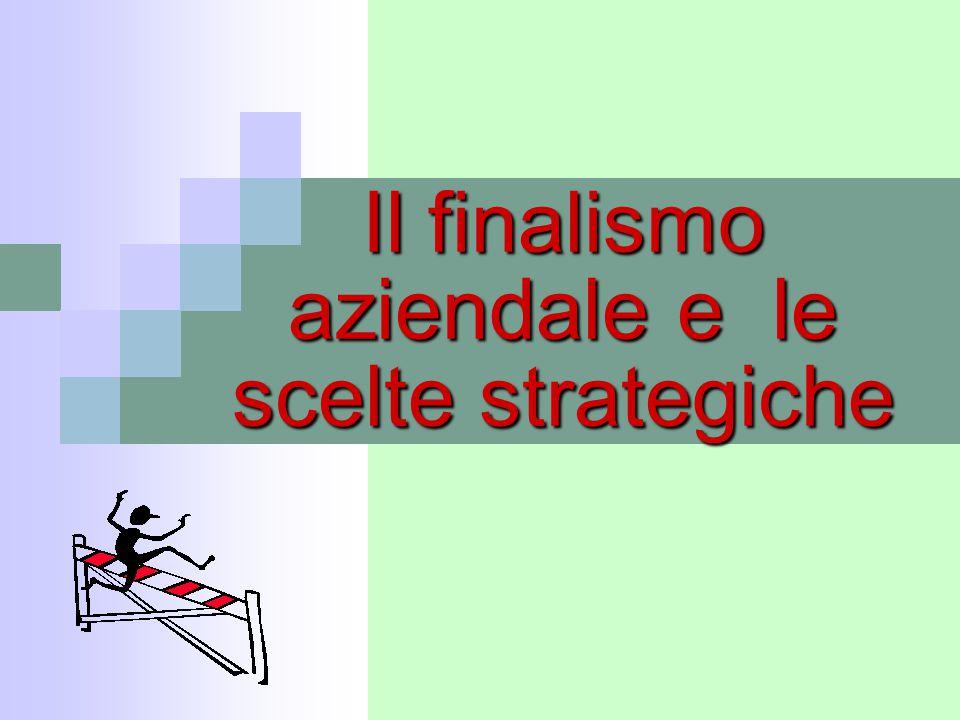 Il finalismo aziendale e le scelte strategiche