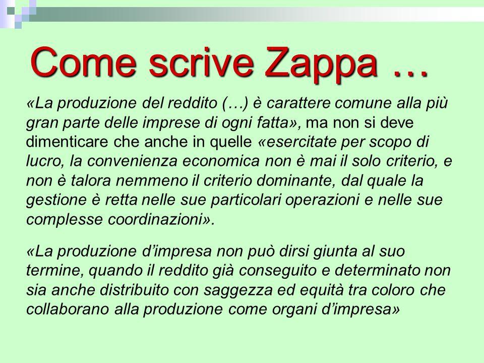 Come scrive Zappa …