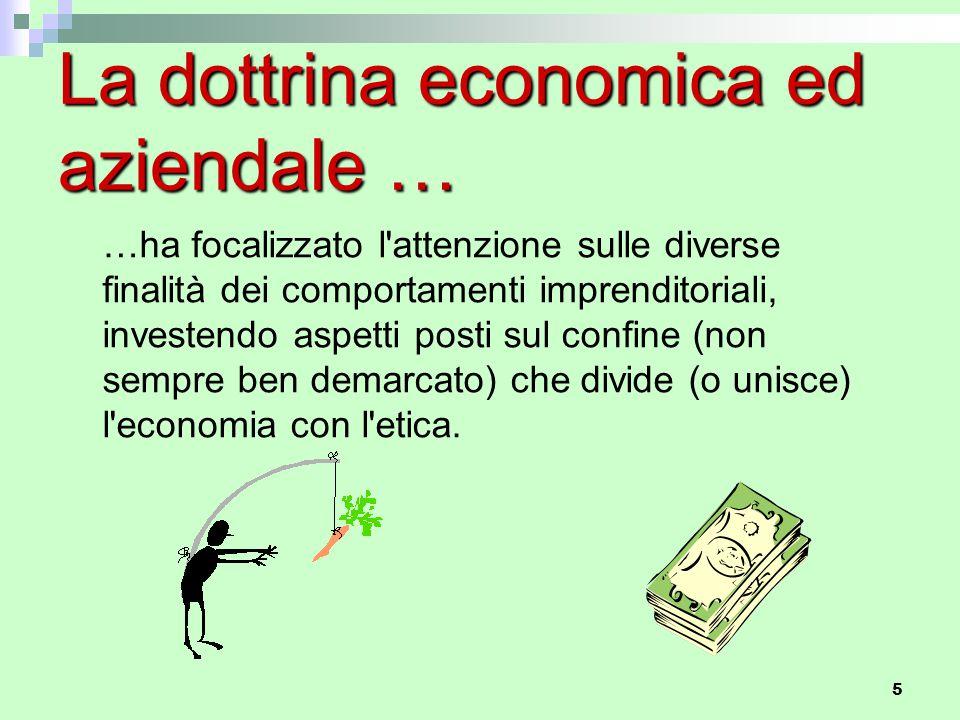 La dottrina economica ed aziendale …