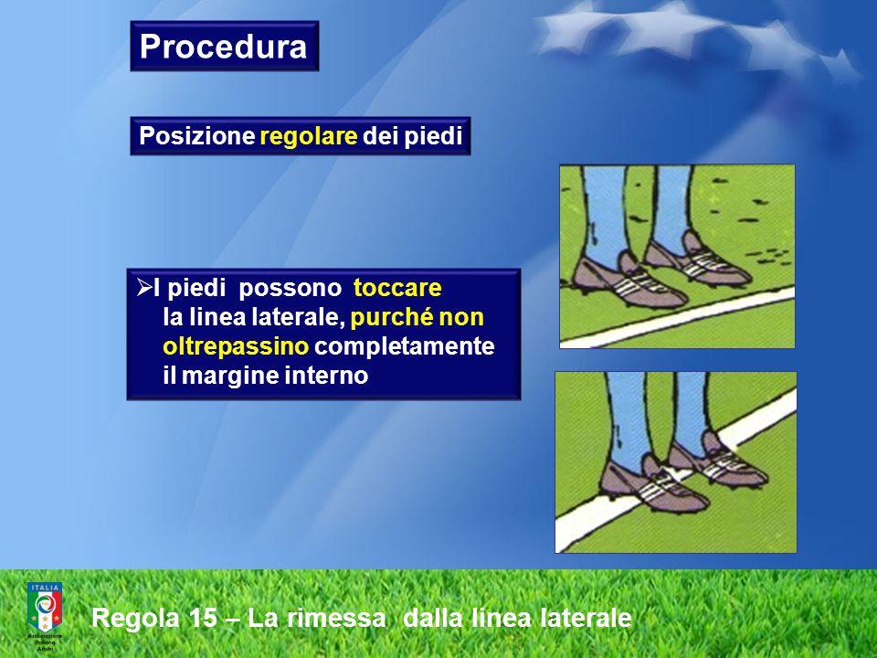Procedura Regola 15 – La rimessa dalla linea laterale
