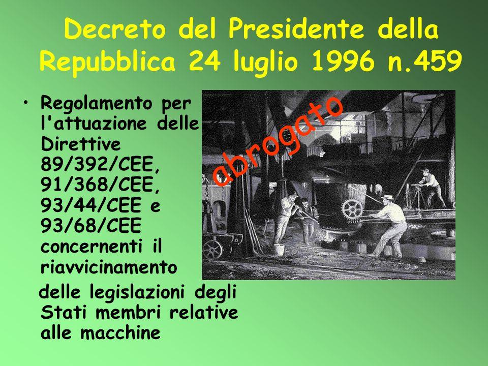 Decreto del Presidente della Repubblica 24 luglio 1996 n.459