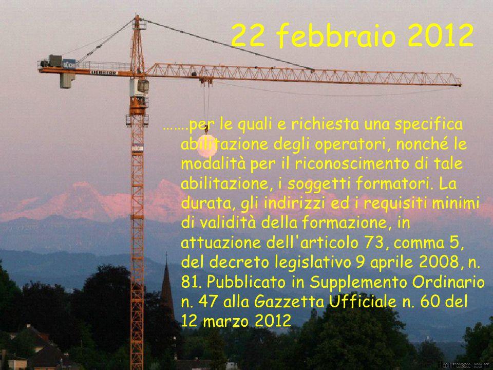 22 febbraio 2012