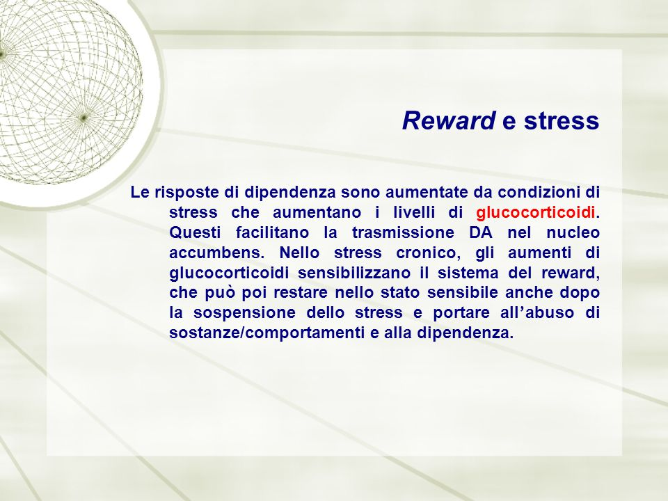 Reward e stress