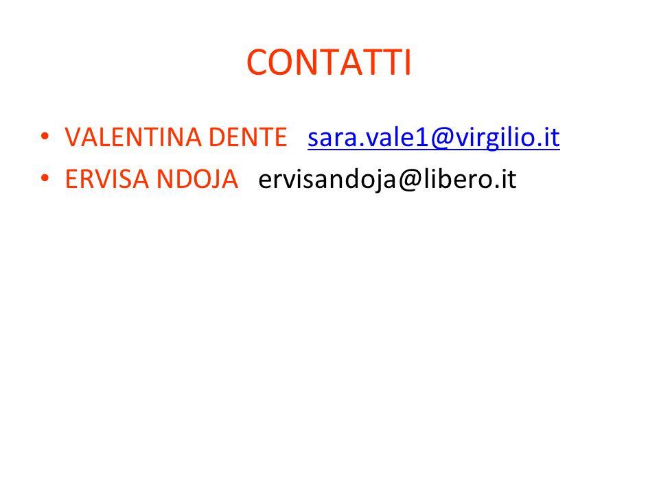 CONTATTI VALENTINA DENTE sara.vale1@virgilio.it