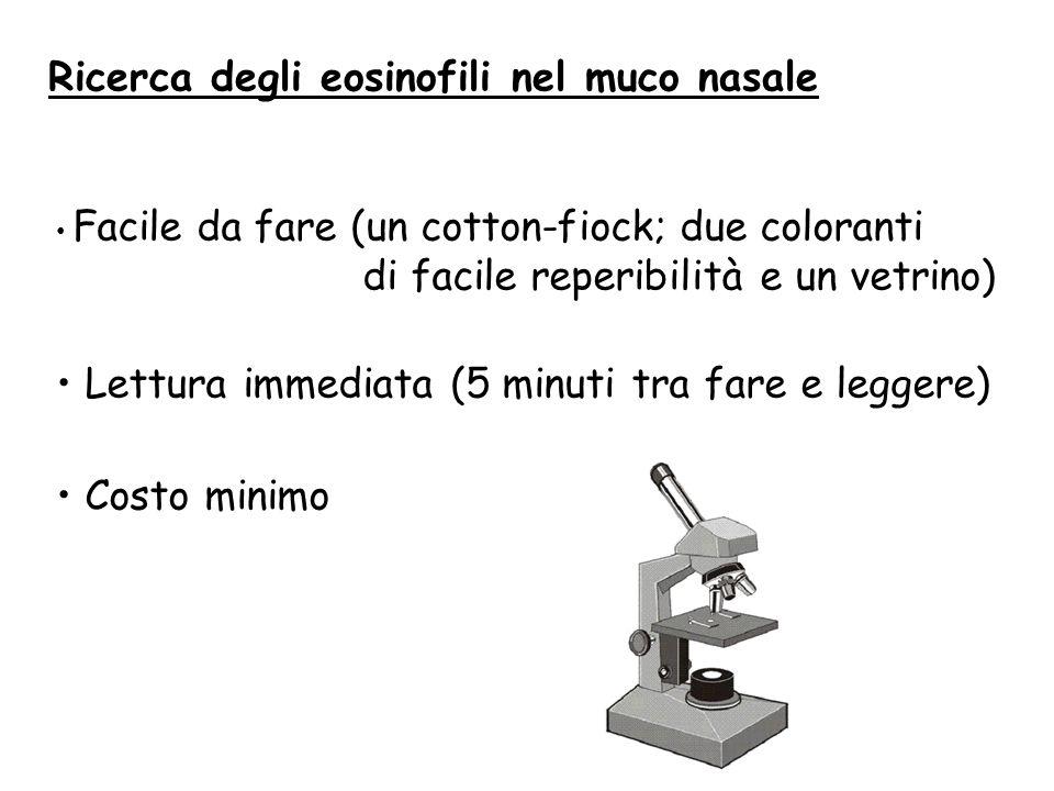 Ricerca degli eosinofili nel muco nasale