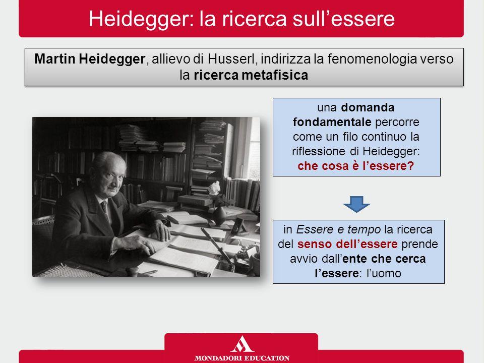 Heidegger: la ricerca sull'essere