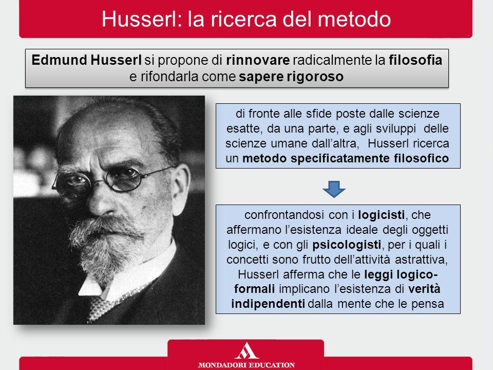 Husserl: la ricerca del metodo