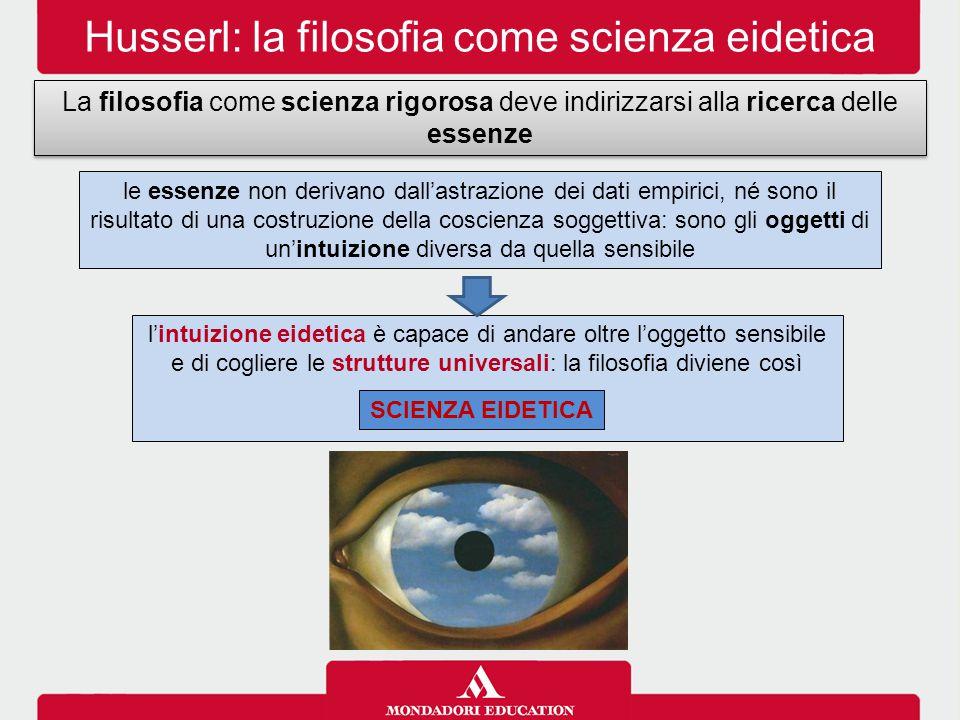 Husserl: la filosofia come scienza eidetica