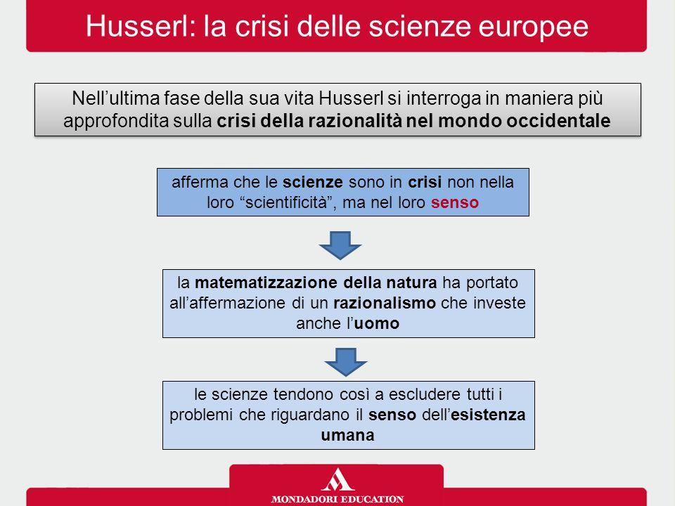 Husserl: la crisi delle scienze europee