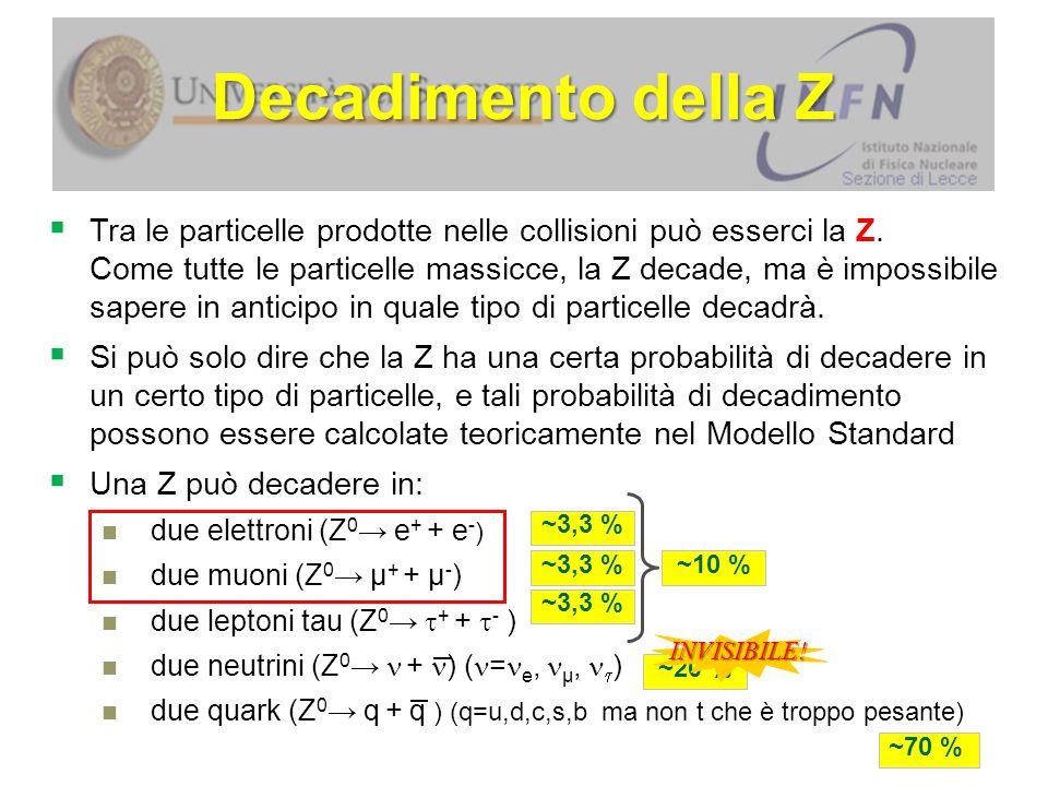 Decadimento della Z