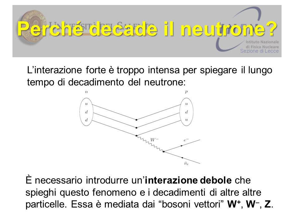 Perché decade il neutrone