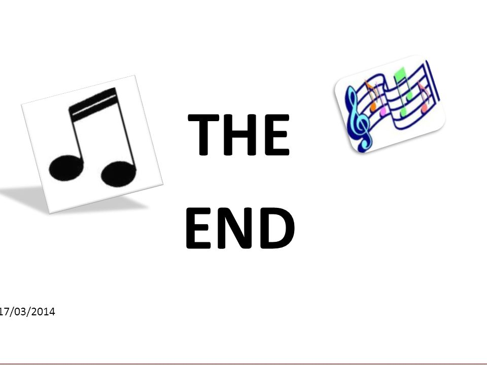 THE END 17/03/2014