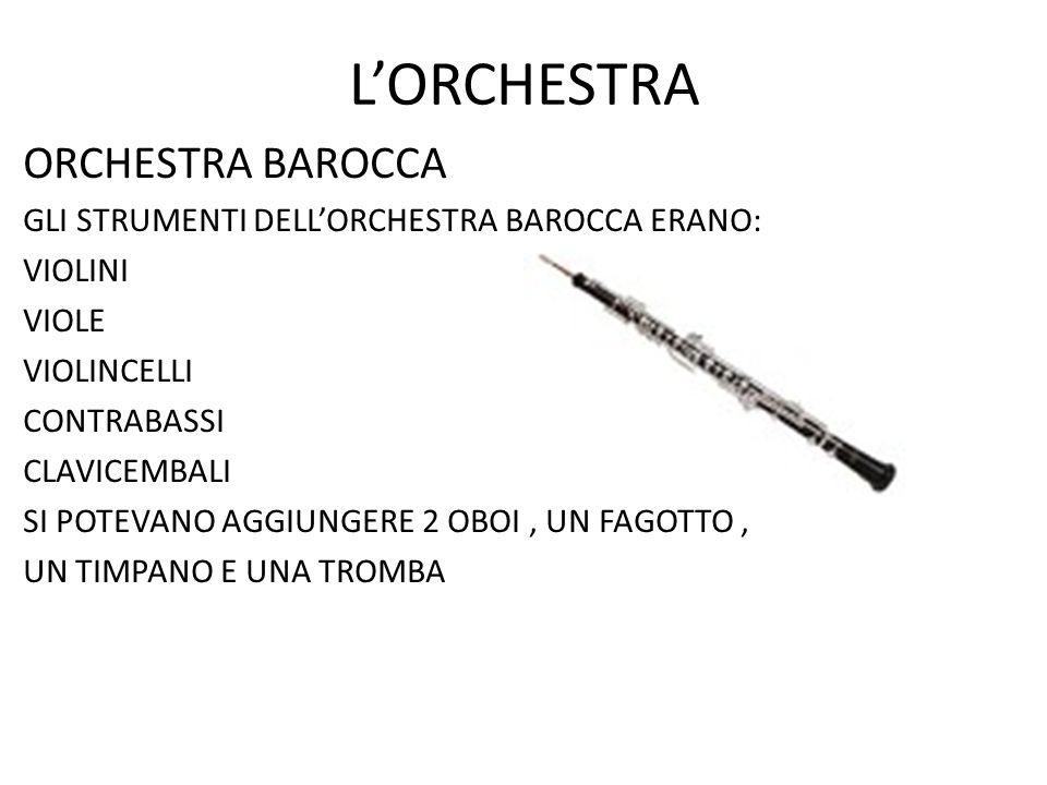 L'ORCHESTRA ORCHESTRA BAROCCA
