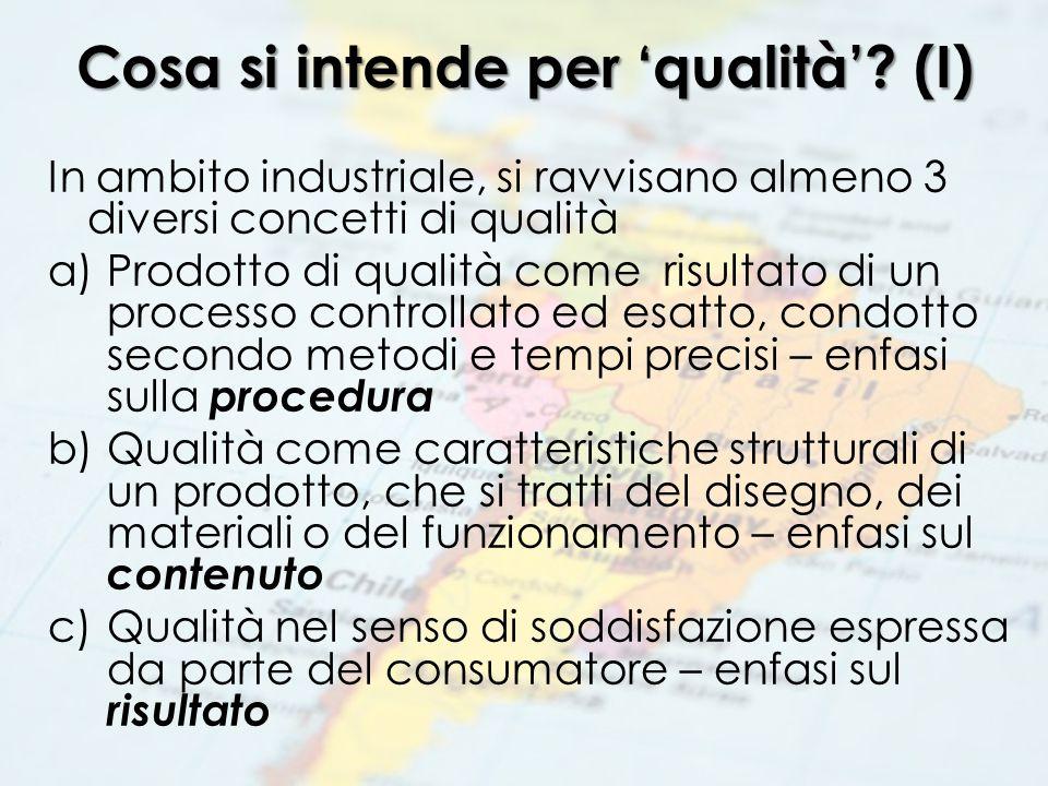 Cosa si intende per 'qualità' (I)