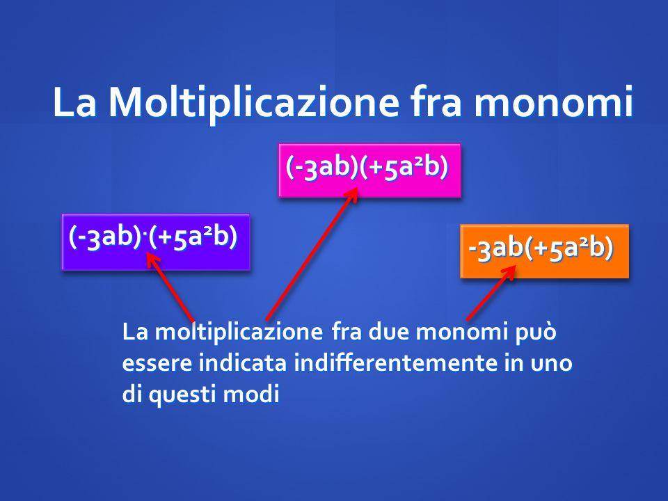 La Moltiplicazione fra monomi