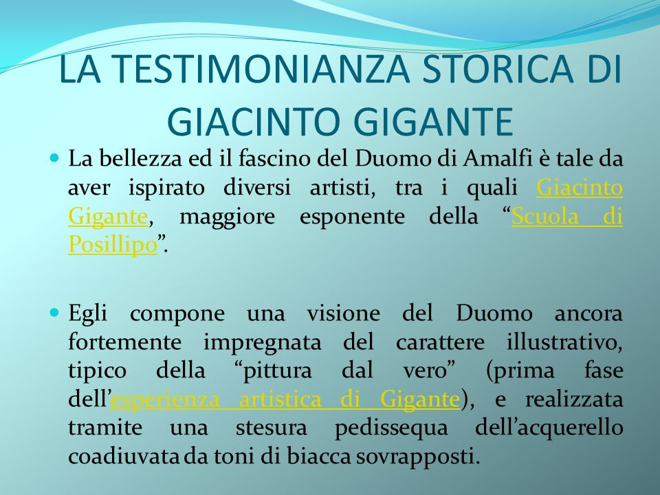 LA TESTIMONIANZA STORICA DI GIACINTO GIGANTE
