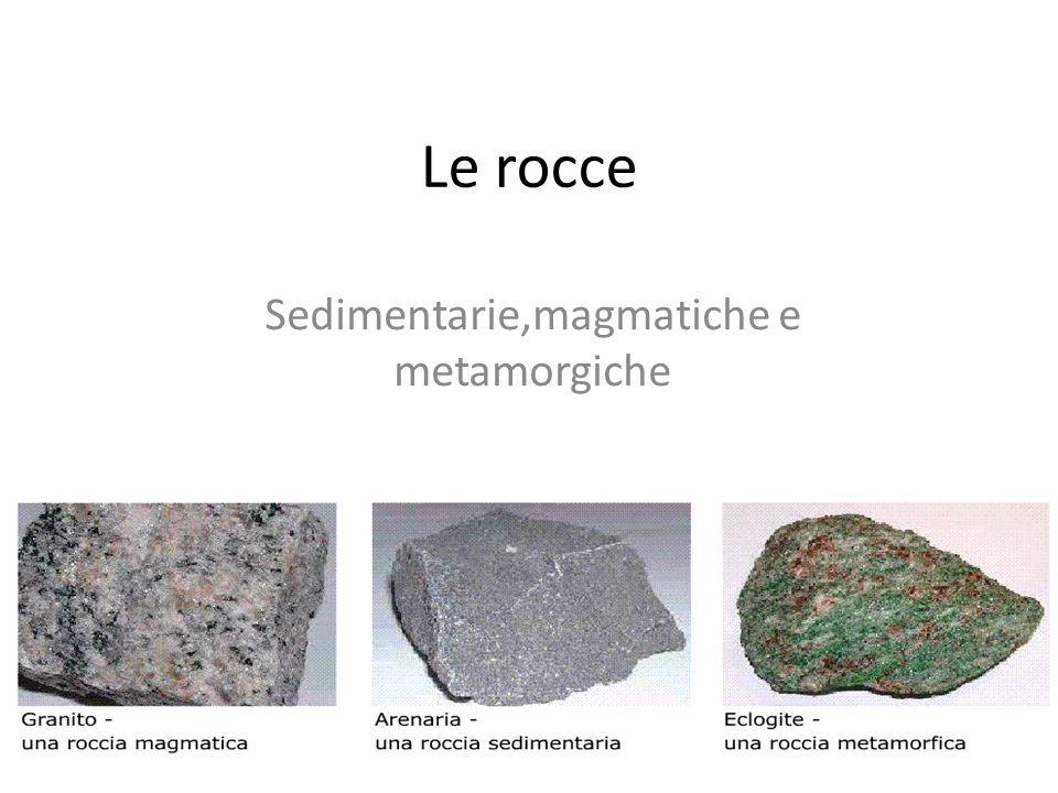 Sedimentarie,magmatiche e metamorgiche
