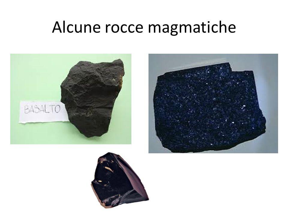 Alcune rocce magmatiche
