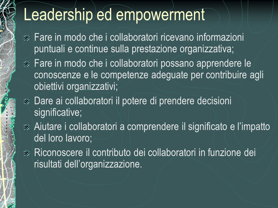Leadership ed empowerment