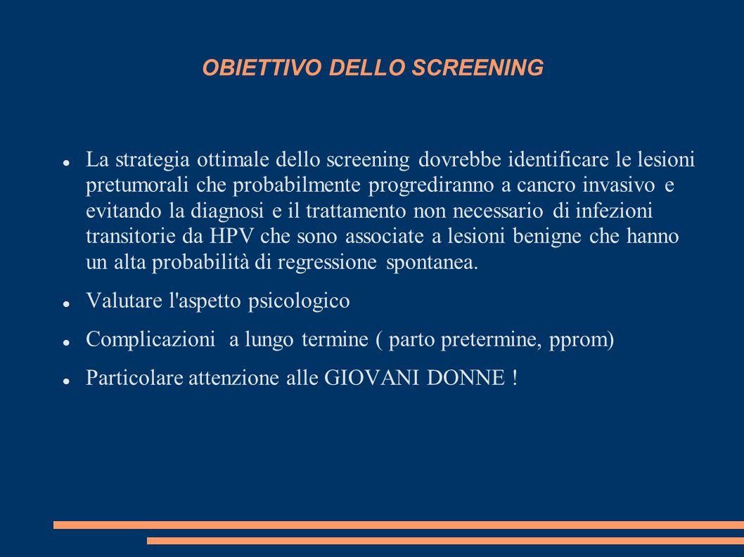 OBIETTIVO DELLO SCREENING