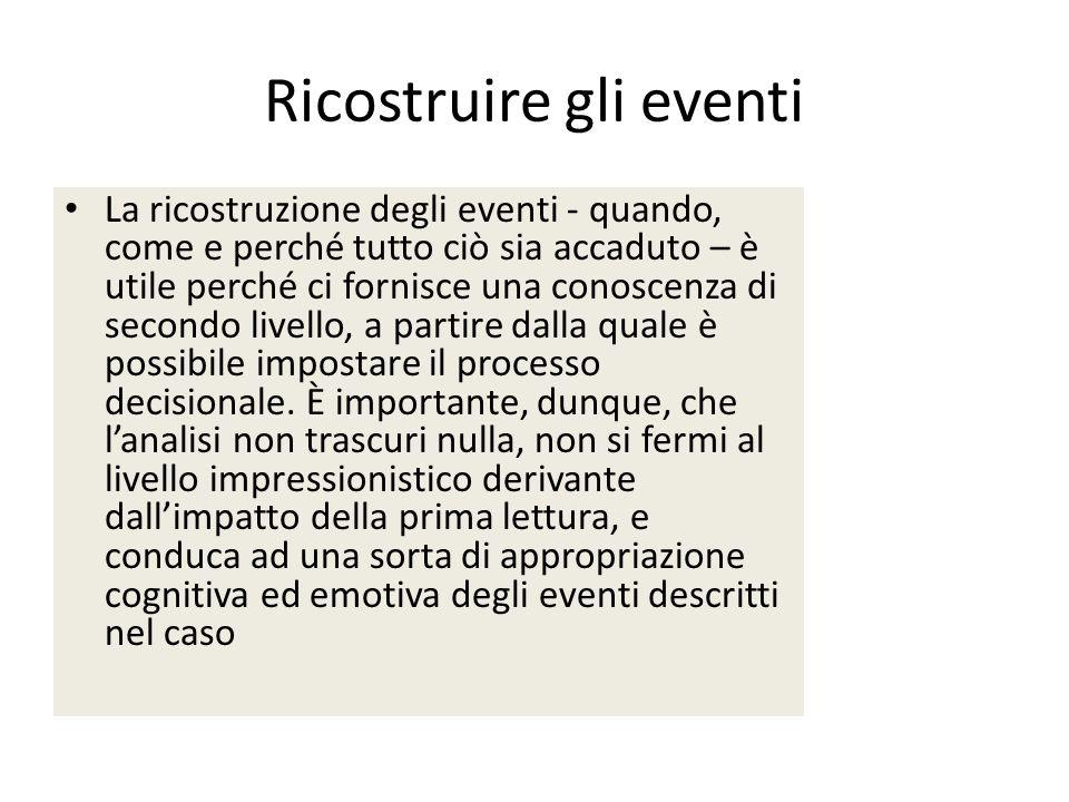 Ricostruire gli eventi
