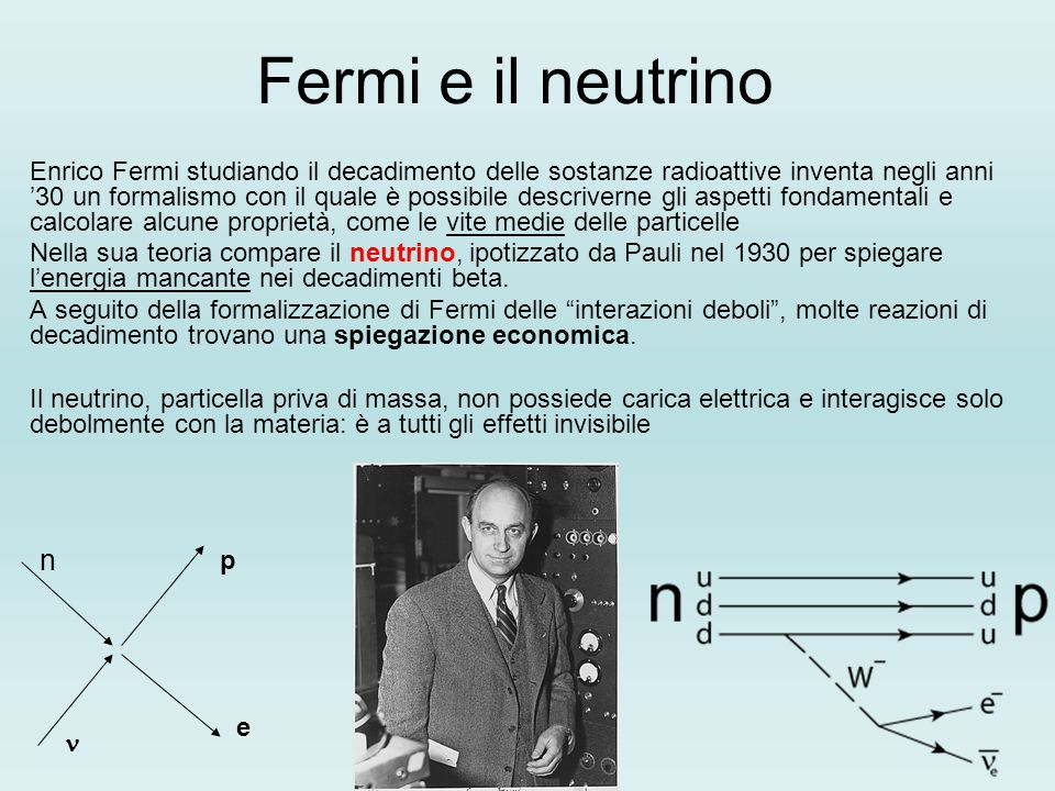 Fermi e il neutrino