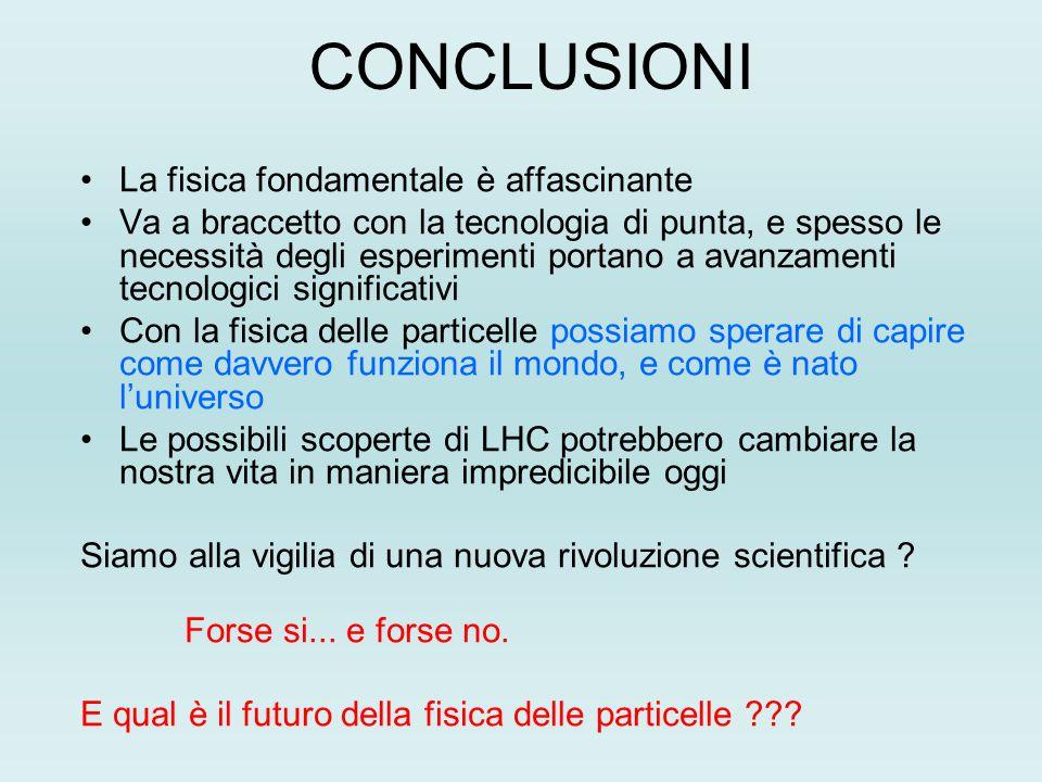 CONCLUSIONI La fisica fondamentale è affascinante