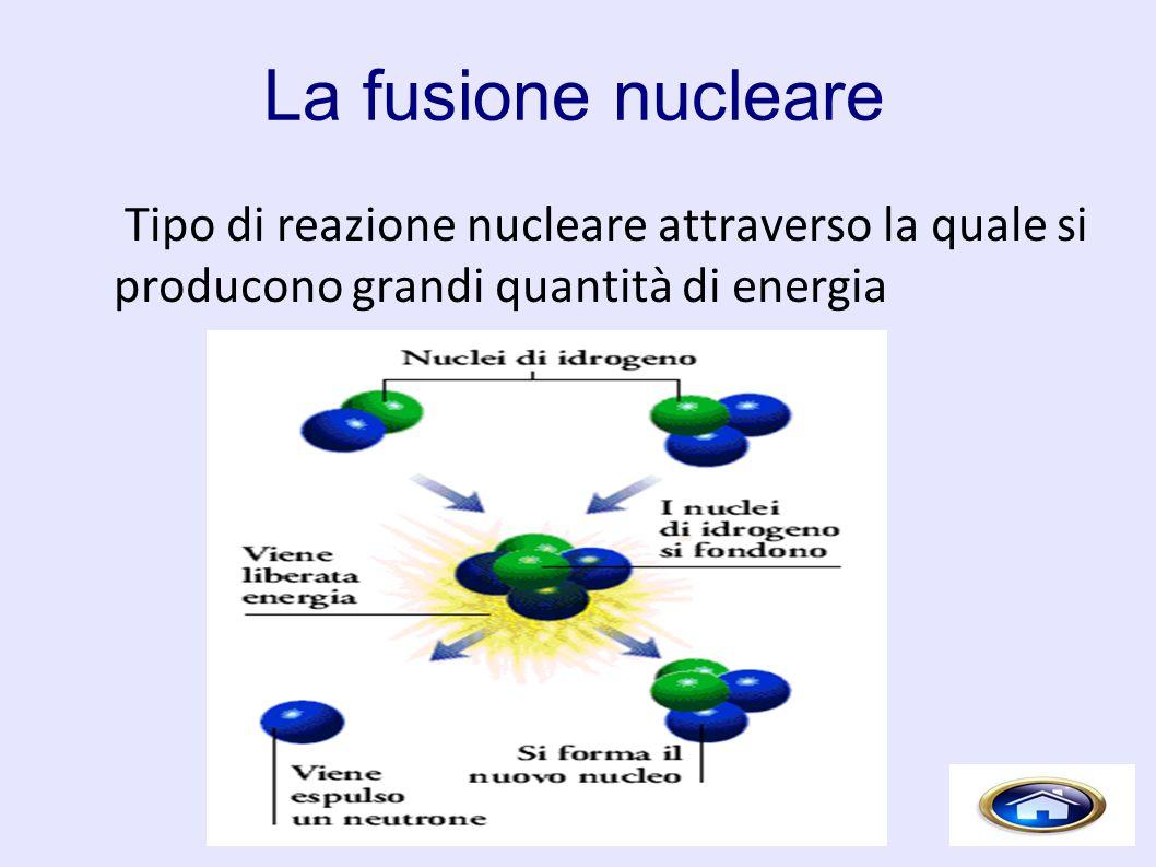 Tipo di reazione nucleare attraverso la quale si producono grandi quantità di energia
