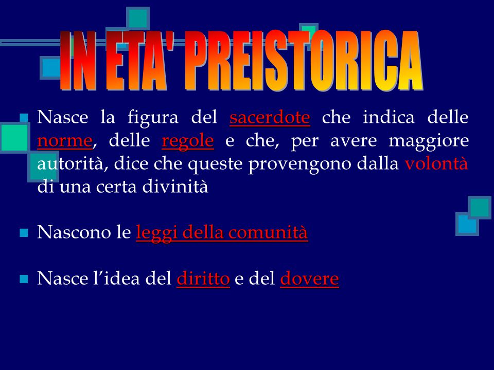 IN ETA PREISTORICA