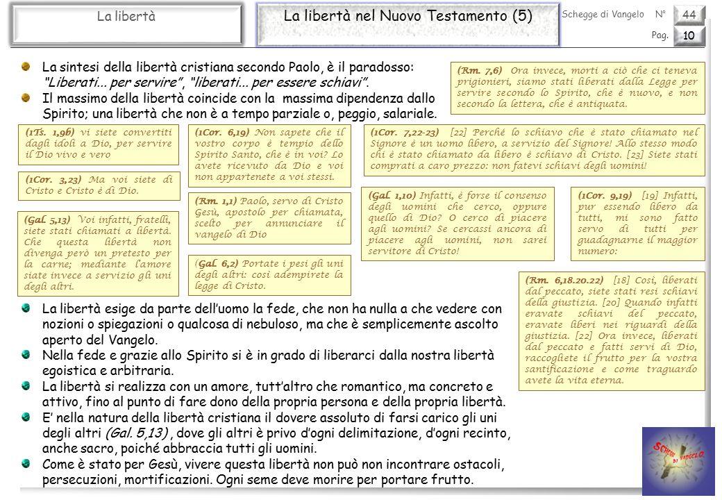 La libertà nel Nuovo Testamento (5)
