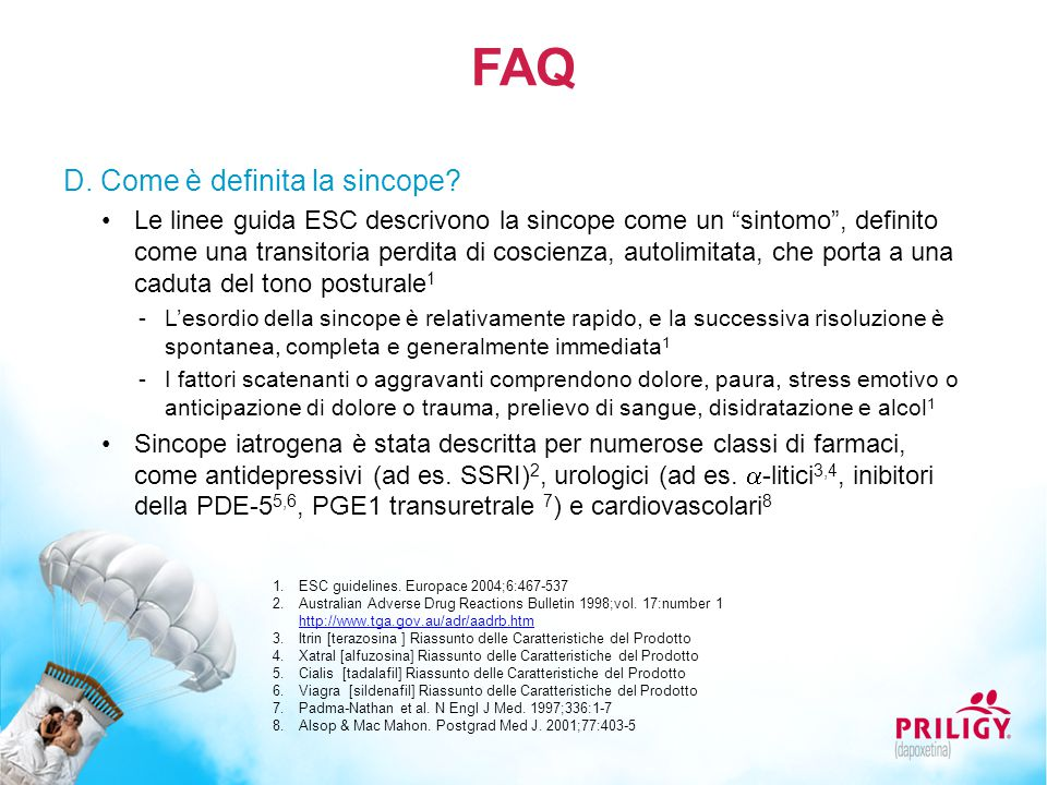 FAQ D. Come è definita la sincope
