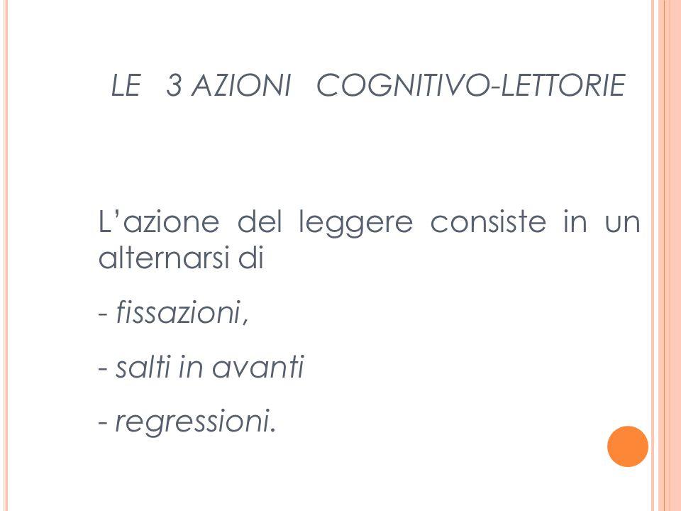 LE 3 AZIONI COGNITIVO-LETTORIE