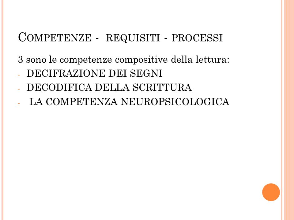 Competenze - requisiti - processi