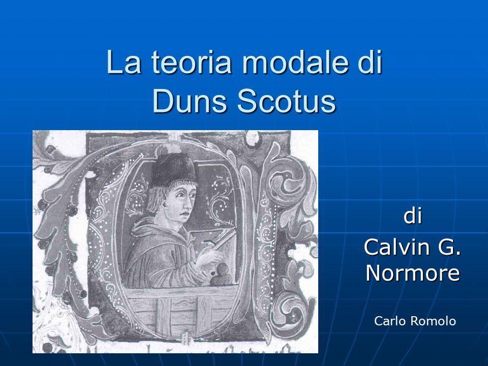 La teoria modale di Duns Scotus