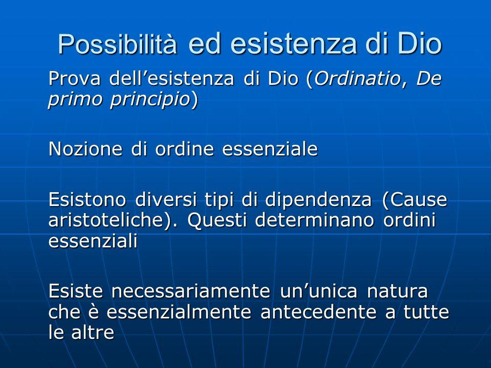 Possibilità ed esistenza di Dio