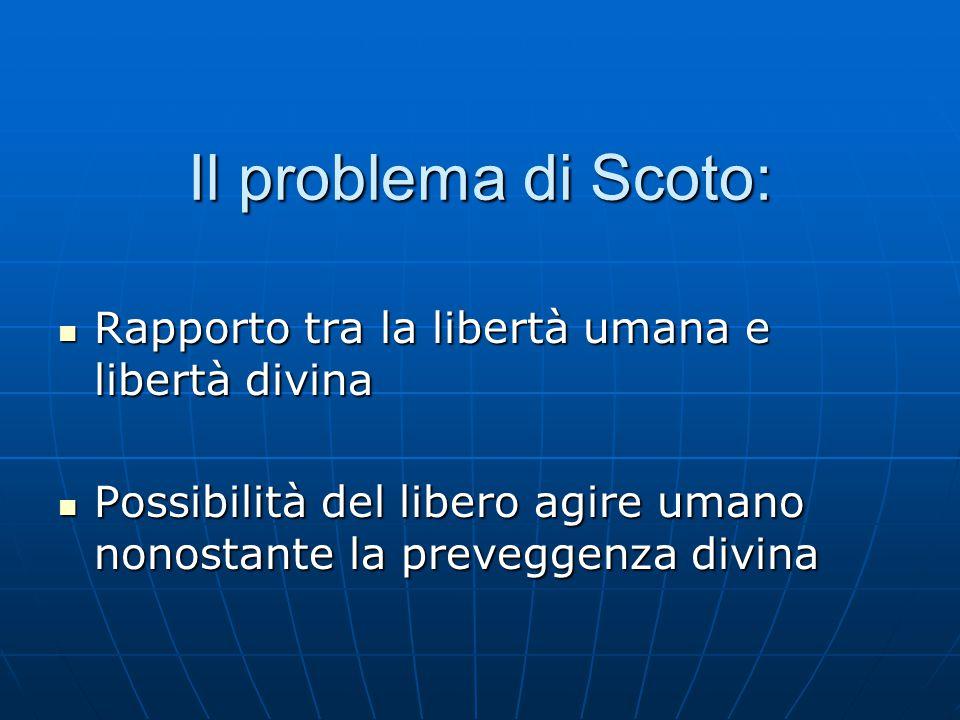 Il problema di Scoto: Rapporto tra la libertà umana e libertà divina
