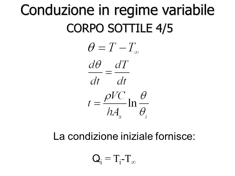 Conduzione in regime variabile CORPO SOTTILE 4/5
