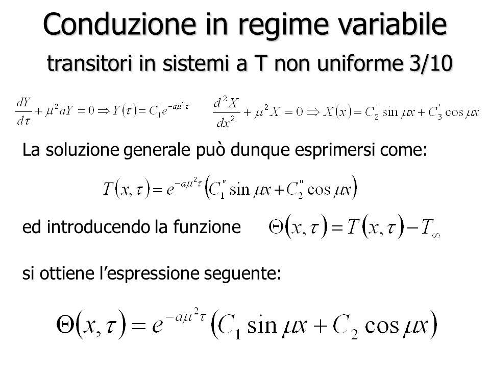 Conduzione in regime variabile transitori in sistemi a T non uniforme 3/10